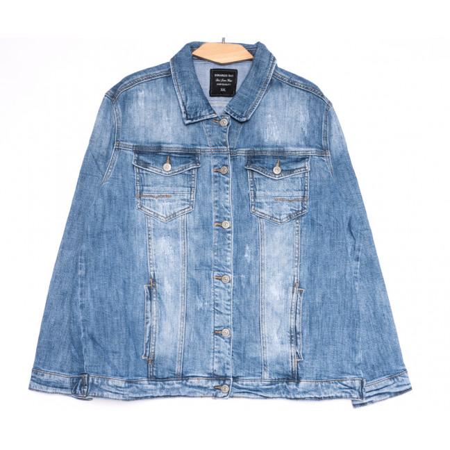 3034 Dimarkis Day куртка джинсовая женская батальная синяя весенняя стрейчевая (XL-6XL, 6 ед.) Dimarkis Day: артикул 1105497