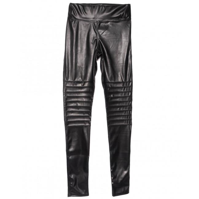 0623-42 Exclusive лосины кожаные черные весенние стрейчевые (42-46,норма, 3 ед.) Exclusive: артикул 1104969