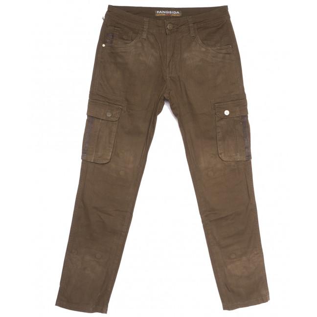 2120 Fangsida брюки карго мужские коричневые весенние стрейчевые (29-36, 8 ед.) Fangsida: артикул 1105601