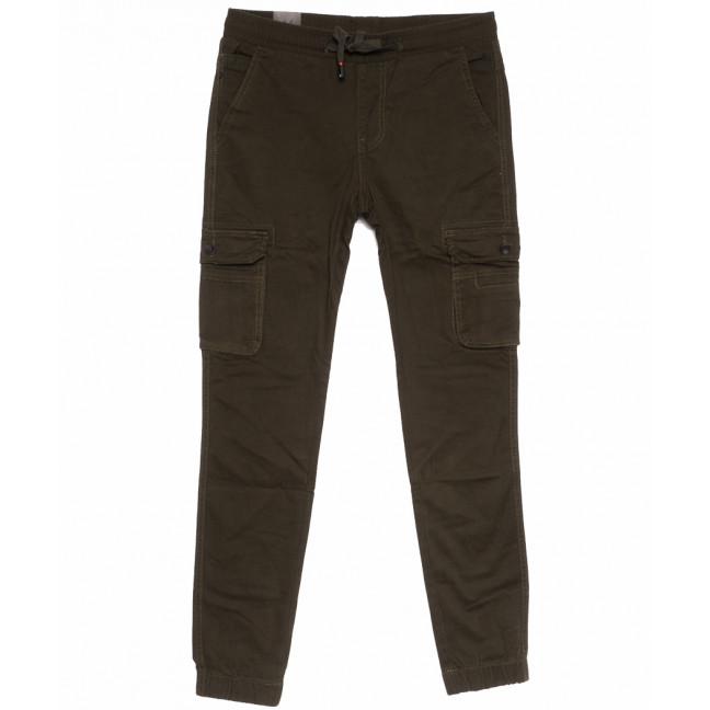 3008-А LS брюки мужские молодежные коричневые весенние стрейчевые (27-34, 8 ед.) LS: артикул 1105307