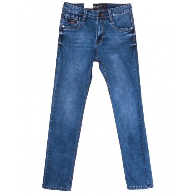 9380 Baron джинсы мужские полубатальные синие весенние стрейчевые (32-42, 8 ед.) Baron: артикул 1105717