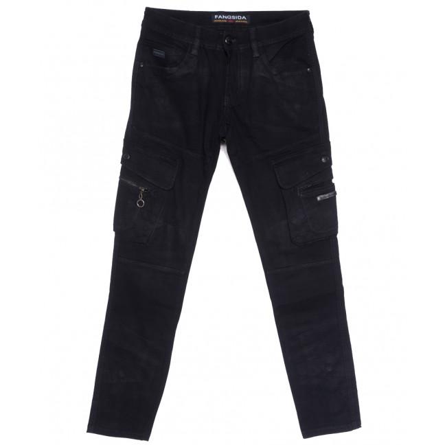 2114 Fangsida джинсы мужские молодежные темно-синие весенние стрейчевые (28-34, 8 ед.) Fangsida: артикул 1105592