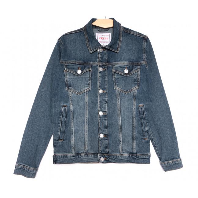 4602 Gecce куртка джинсовая мужская синяя весенняя коттоновая (S-ХХL, 6 ед.) Gecce: артикул 1105638