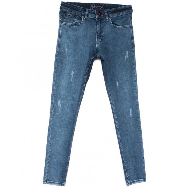 0727 Redmoon джинсы мужские с царапками синие весенние стрейчевые (30-36, 6 ед.) REDMOON: артикул 1104421
