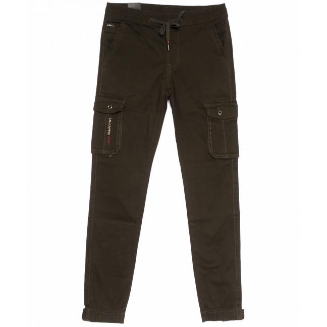 3009-А LS брюки мужские молодежные коричневые весенние стрейчевые (27-34, 8 ед.) LS: артикул 1105321