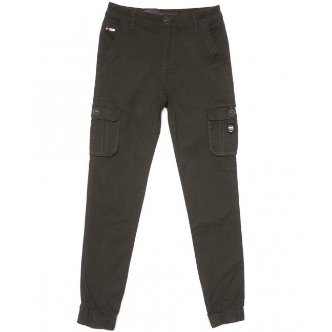 3051-А LS брюки мужские молодежные карго хаки весенние стрейчевые (28-36, 8 ед.) LS: артикул 1104455