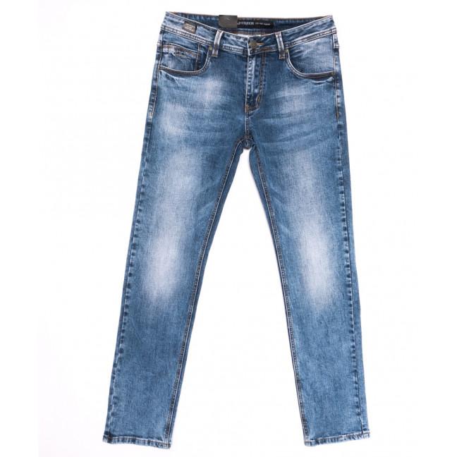 9439 God Baron джинсы мужские с теркой синие весенние стрейчевые (30-38, 8 ед.) God Baron: артикул 1105466