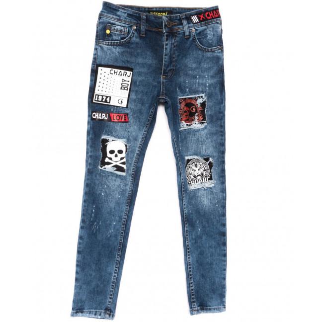 1022 Charj джинсы на мальчика синие весенние стрейчевые (20-27,7-14 лет, 8 ед.) Charj: артикул 1104943