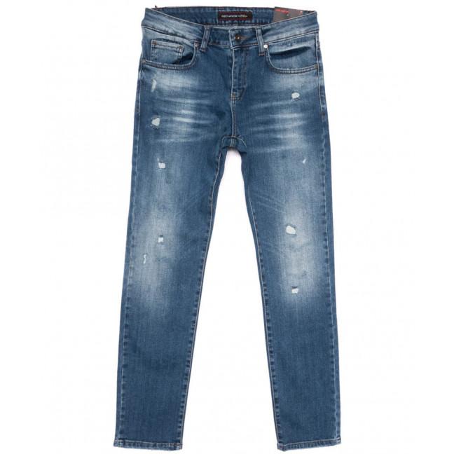 0466 Redmoon джинсы мужские с рванкой синие весенние стрейчевые (29-36, 7 ед.) REDMOON: артикул 1104416