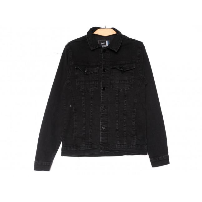 3070 Big Gastino куртка джинсовая мужская серая весенняя стрейчевая (S-XL, 5 ед.) Big Gastino: артикул 1104940