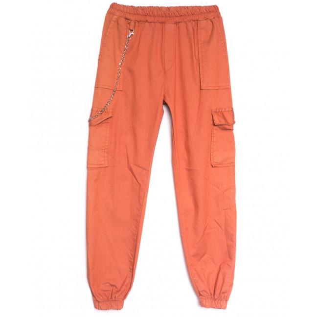 1790 оранжевые Defile брюки карго женские весенние стрейчевые (S-XL, 4 ед.) Defile: артикул 1107106