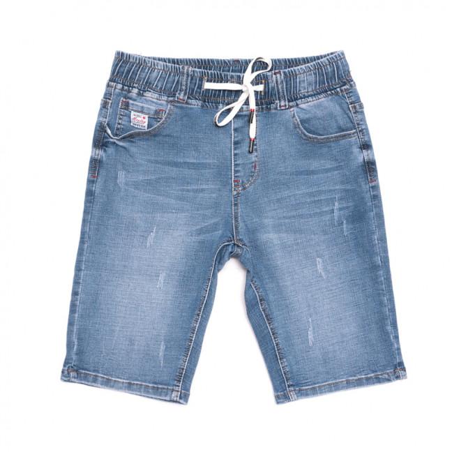 2068 New jeans шорты джинсовые мужские молодежные на резинке синие стрейчевые (28-36, 8 ед.) New Jeans: артикул 1106420
