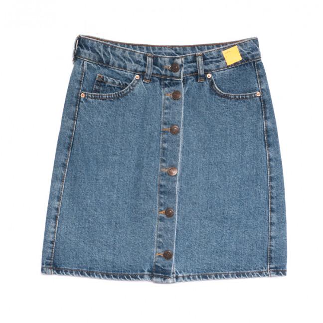 1981 юбка джинсовая на пуговицах синяя весенняя коттоновая (XS-L, 6 ед.) Юбка: артикул 1106918