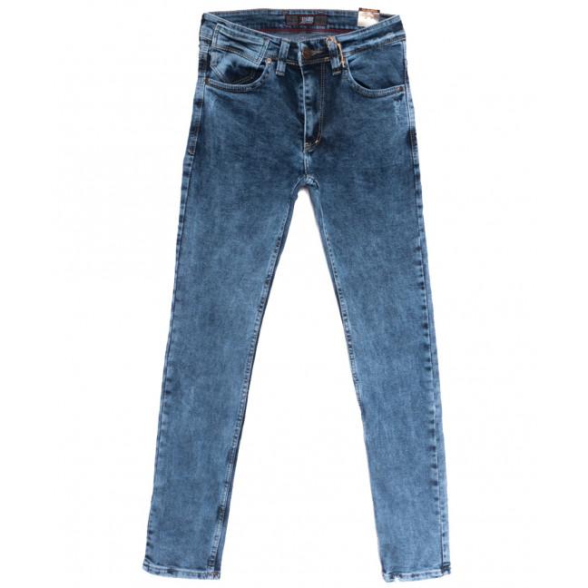 6816 Redcode джинсы мужские с царапками синие весенние стрейчевые (29-36, 8 ед.) Redcode: артикул 1106653