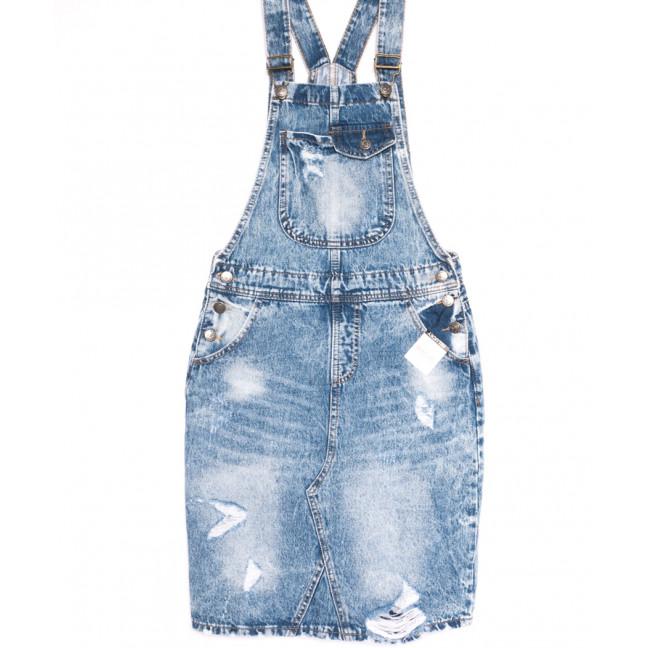3306-5 Y Relucky сарафан джинсовый стильный синий весенний стрейчевый (25-30, 6 ед.) Relucky: артикул 1106147