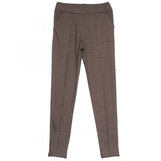 0017-44 коричневые Exclusive брюки женские в клетку весенние стрейчевые (42-48, 4 ед.) Exclusive: артикул 1106268