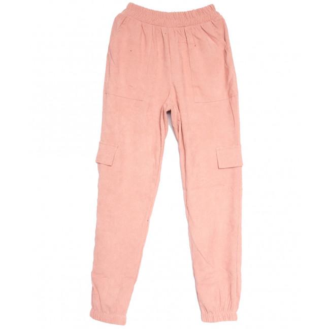 0227-42 розовые Exclusive брюки карго женские весенние стрейчевые (42-48, 4 ед.) Exclusive: артикул 1106280