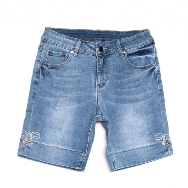 3761 New Jeans шорты джинсовые женские с царапками синие стрейчевые (25-30, 6 ед.) New Jeans: артикул 1107043