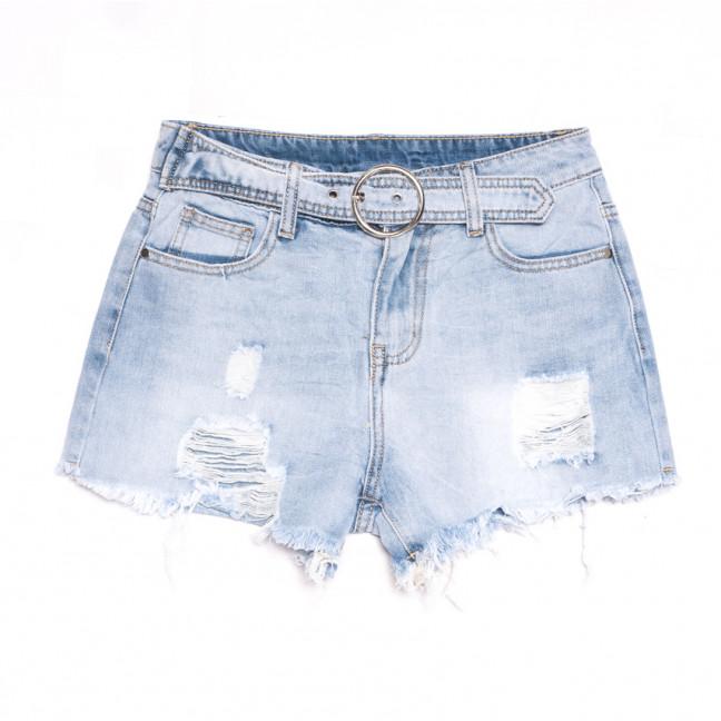 3743 New Jeans шорты джинсовые женские с рванкой синие коттоновые (25-30, 6 ед.) New Jeans: артикул 1106992