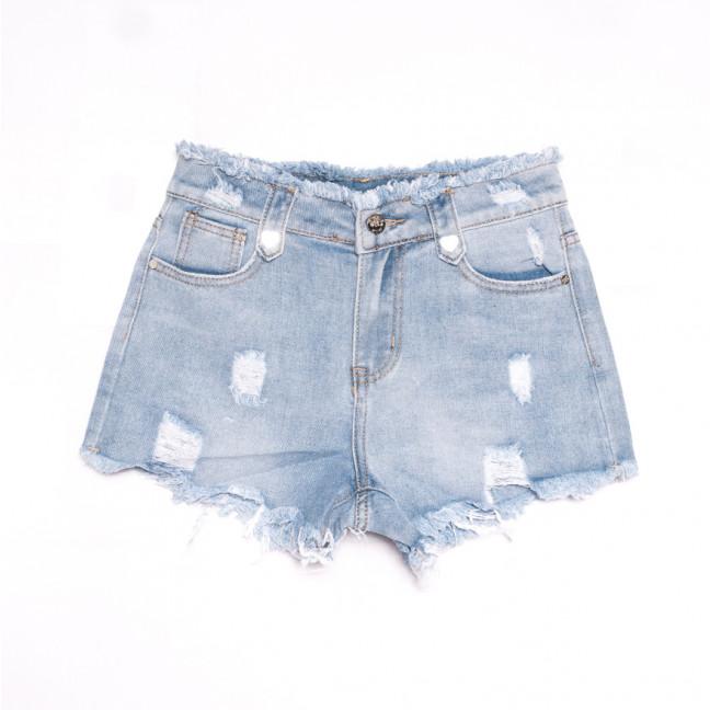 3661 New Jeans шорты джинсовые женские с рванкой синие коттоновые (25-30, 6 ед.) New Jeans: артикул 1106965