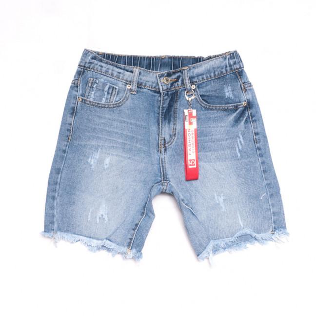 3724 New Jeans шорты джинсовые женские с царапками синие коттоновые (25-30, 6 ед.) New Jeans: артикул 1106996