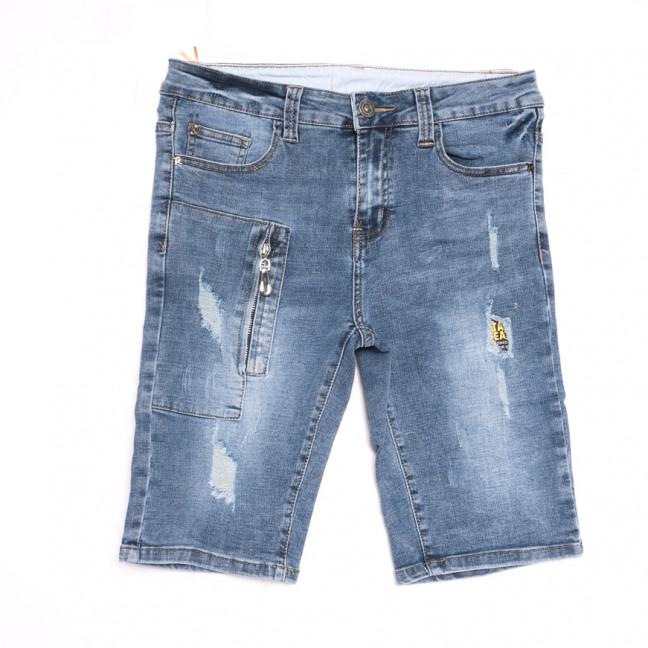 2067 New Jeans шорты джинсовые мужские молодежные синие стрейчевые (28-36, 8 ед.) New Jeans: артикул 1107062