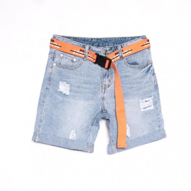3723 New Jeans шорты джинсовые женские с рванкой синие коттоновые (25-30, 6 ед.) New Jeans: артикул 1106991