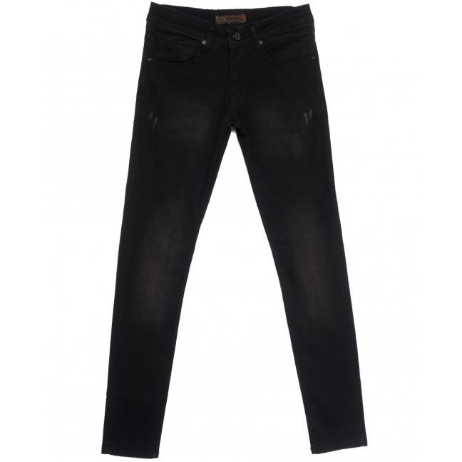 1718 Konica джинсы мужские с царапкой черные весенние стрейчевые (29-36, 7 ед.) Konica: артикул 1105841