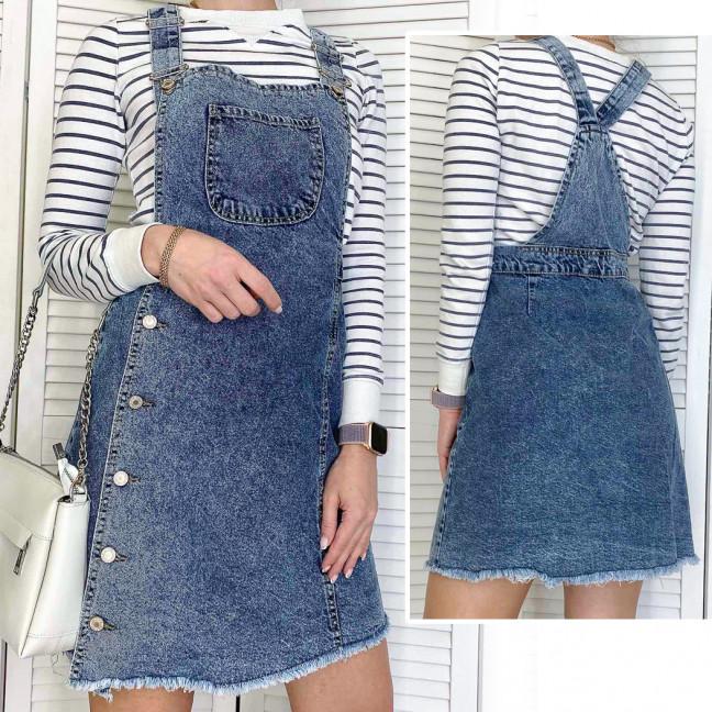2980 Xray сарафан джинсовый грязно-голубой весенний коттоновый  (42-48,евро, 4 ед.) XRAY: артикул 1106940