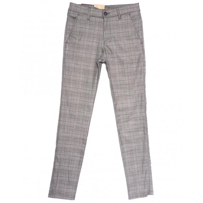 1127 Arquati брюки мужские в клетку светло-серые весенние стрейчевые (29-38, 8 ед.) Arquati: артикул 1106683