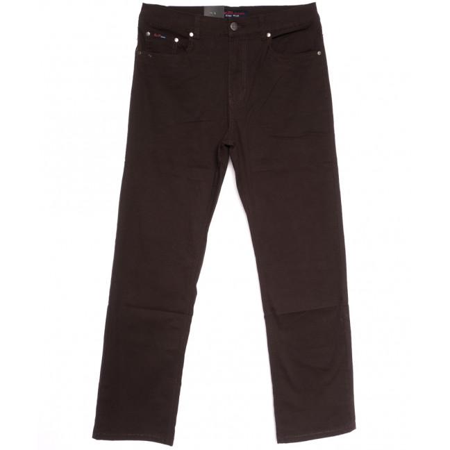 3035-D LS джинсы мужские батальные коричневые весенние стрейчевые (34-44, 8 ед.) LS: артикул 1106265
