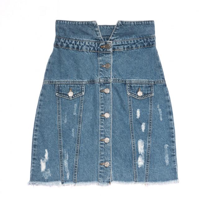 3026 Miele юбка джинсовая с рванкой синяя весенняя коттоновая (34-40,евро, 5 ед.) Miele: артикул 1106921