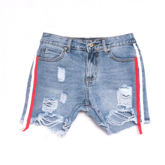 3716 New Jeans шорты джинсовые женские с рванкой синие коттоновые (25-30, 6 ед.) New Jeans: артикул 1107004
