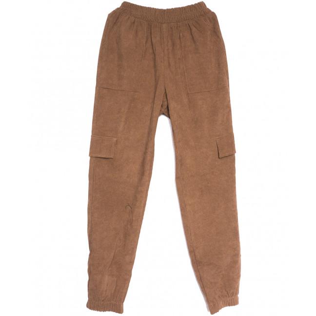 0227-42 коричневые Exclusive брюки карго женские весенние стрейчевые (42-48, 4 ед.) Exclusive: артикул 1106283