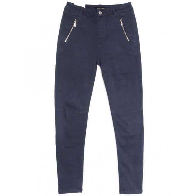 9081-10 темно-синие Saint Wish брюки женские полубатальные весенние стрейчевые (28-33, 6 ед.) Saint Wish: артикул 1105794
