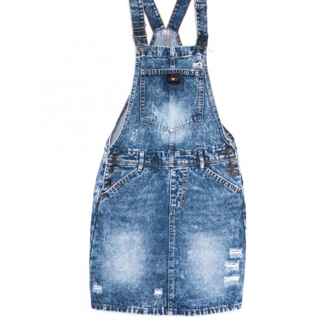 0239-4 Y Relucky сарафан джинсовый синий весенний стрейчевый (25-30, 6 ед.) Relucky: артикул 1106154