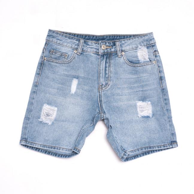 3722 New Jeans шорты джинсовые женские с рванкой синие коттоновые (25-30, 6 ед.) New Jeans: артикул 1106978