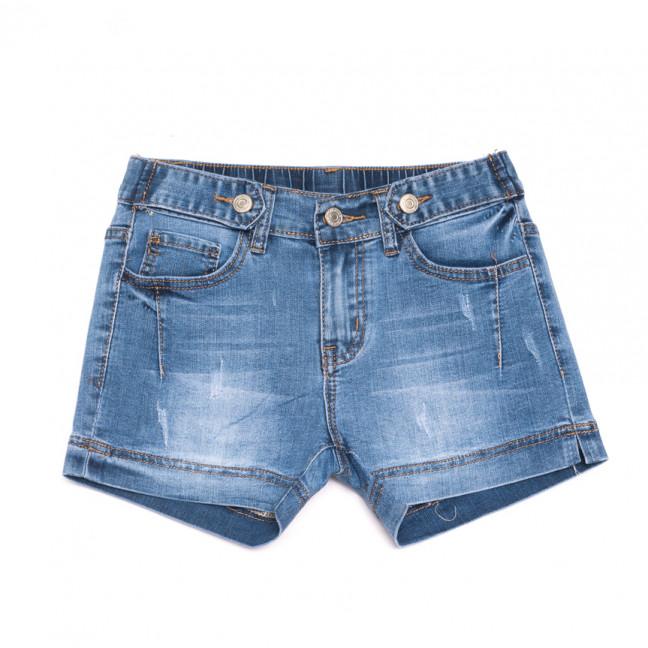 3735 New Jeans шорты джинсовые женские с царапками синие стрейчевые (25-30, 6 ед.) New Jeans: артикул 1107029