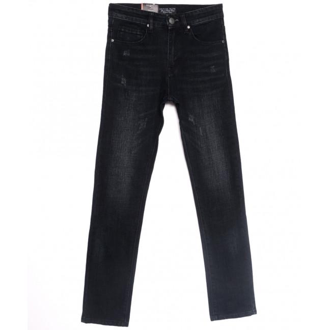 0640-В Likgass джинсы мужские молодежные с царапками  черные весенние стрейчевые (28-36, 8 ед.) Likgass: артикул 1106609