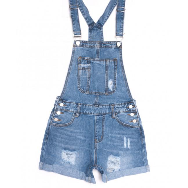 3675 New Jeans сарафан джинсовый с рванкой синий весенний коттоновый (25-30, 6 ед.) New Jeans: артикул 1106981