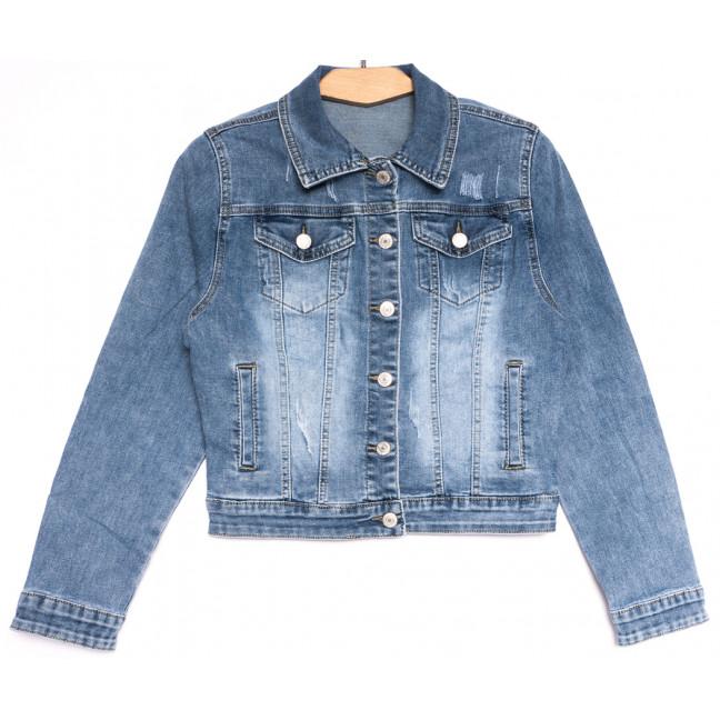 0826 New Jeans куртка джинсовая женская синяя весенняя стрейчевая (XS-XXL, 6 ед.) New Jeans: артикул 1107070