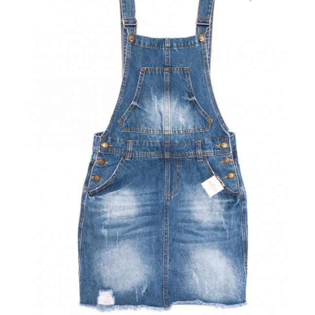 3309-5 Y Relucky сарафан джинсовый синий весенний стрейчевый (25-30, 6 ед.) Relucky: артикул 1106133