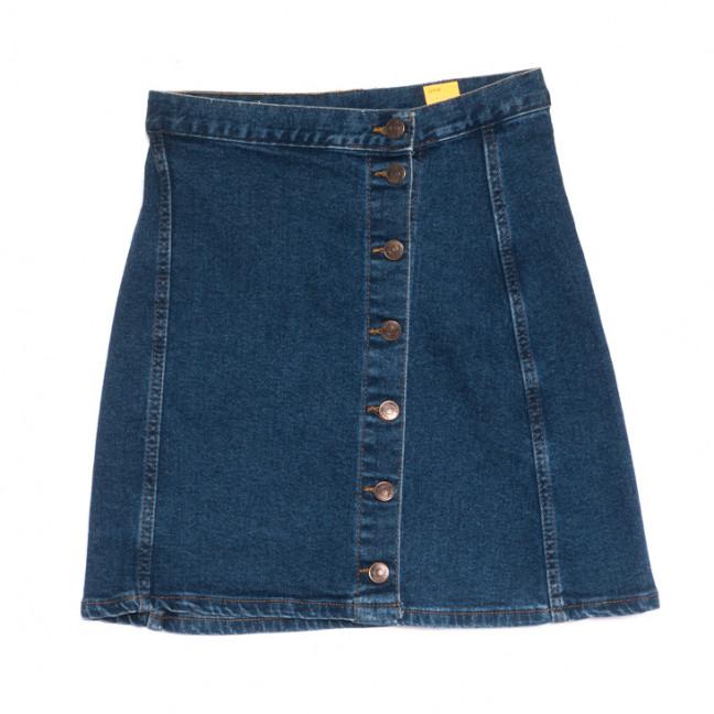 1107 юбка джинсовая на пуговицах синяя весенняя стрейчевая (XS-L, 6 ед.) Юбка: артикул 1106923