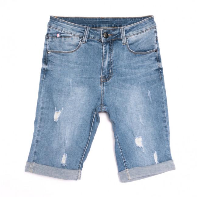 2055 New jeans шорты джинсовые мужские с рванкой синие стрейчевые (29-38, 8 ед.) New Jeans: артикул 1106424