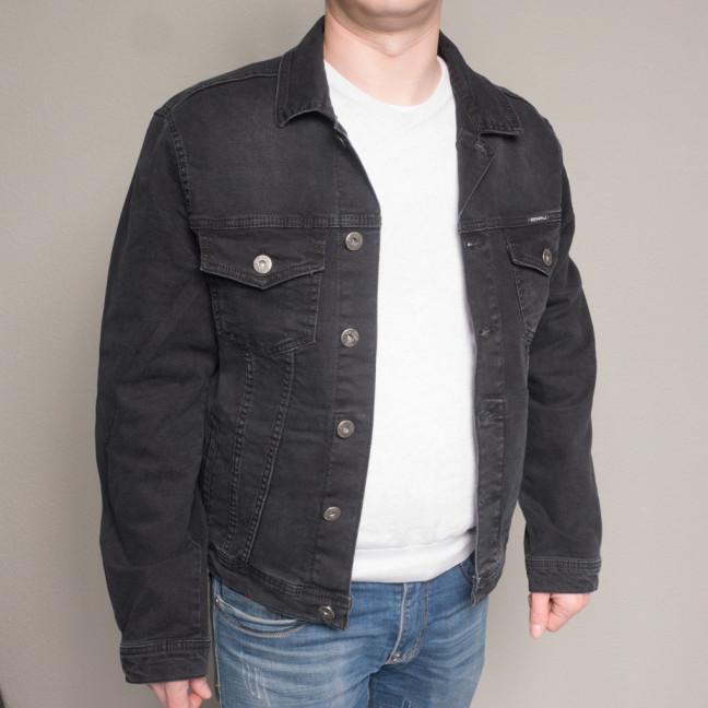 5322-01 черная Revanj куртка мужская джинсовая батальная осенняя стрейчевая (XL-4XL, 4 ед.) Revanj: артикул 1100221