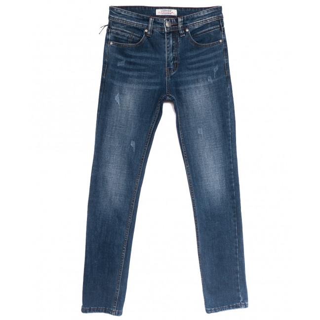0641-В Likgass джинсы мужские молодежные с царапками синие весенние стрейчевые (28-36, 8 ед.) Likgass: артикул 1106604