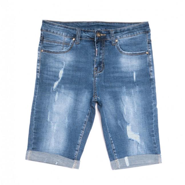 2054 New jeans шорты джинсовые мужские с рванкой синие стрейчевые (29-38, 8 ед.) New Jeans: артикул 1106413
