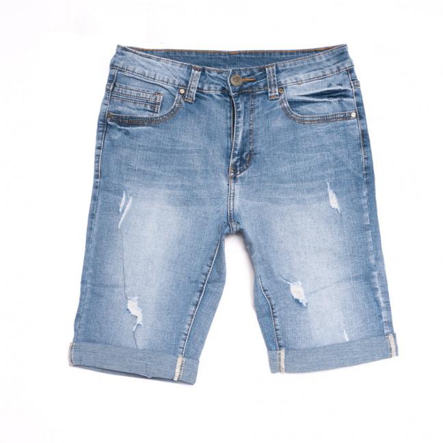 2061 New Jeans шорты джинсовые мужские с рванкой синие стрейчевые (29-38, 8 ед.) New Jeans: артикул 1107016