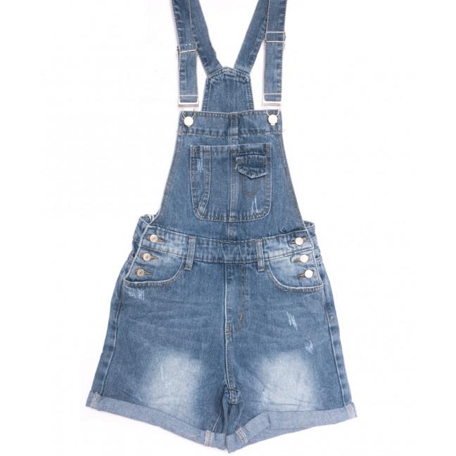 3681 New Jeans сарафан джинсовый с царапками синий весенний коттоновый (25-30, 6 ед.) New Jeans: артикул 1106983