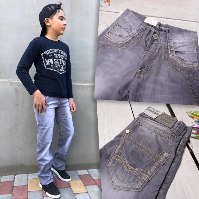3232 Vigoocc подростковые джинсы на мальчика 9-15 лет серые стрейчевые (7 ед. размеры: 24.25.26.27.28.29.30) Vigoocc: артикул 1115789